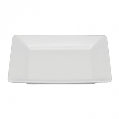 Orion Square Plate (25cm) - White Porcelain