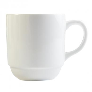 Orion Stacking Mug (300ml) - White Porcelain
