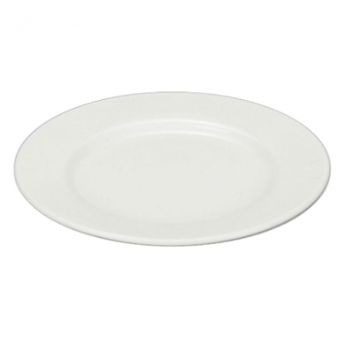 Orion Wide Rim Plate (28cm) - White Porcelain