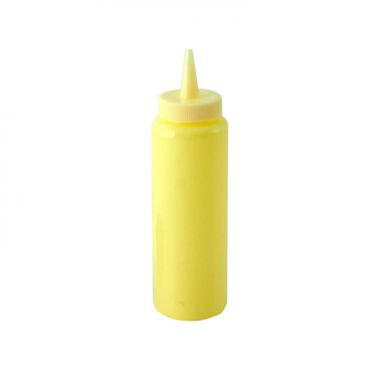Mustard Bottle - Narrow Neck YELLOW (8oz)