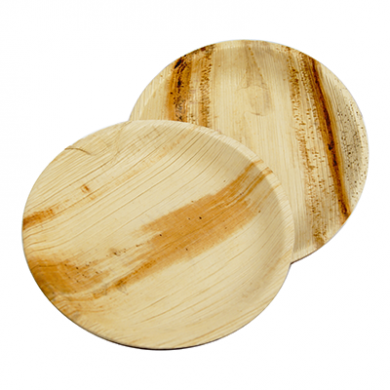 Palm Leaf Round Plates 7 Inch (Pack of 25)