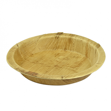 Palm Leaf Round Plates 8 Inch (Pack of 25)