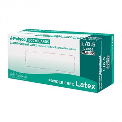 Bodyguards - Latex Gloves - Pack of 100 (Large) - Biodegrada