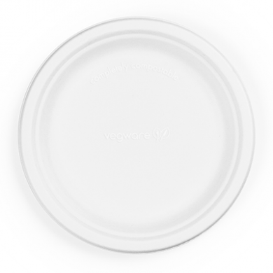 Bio Compostable Bagasse Plates - 7 inch (Pack of 50)
