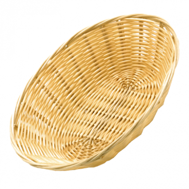 Poly-Rattan Basket - Oval Shape (18x13cm)