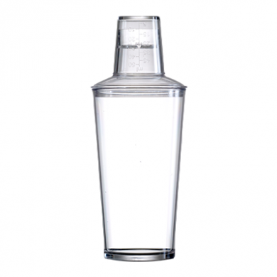 Polycarbonate Clear 3-Part Cocktail Shaker (568ml)