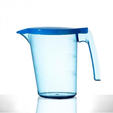 Polycarbonate - Elite Blue Bedside Jug (750ml/25oz) w/ LID