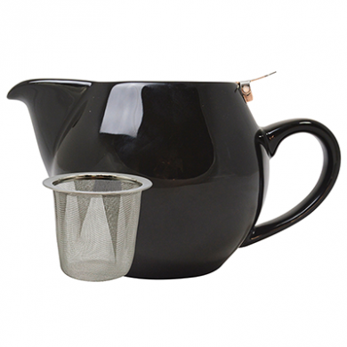 Teapot with Stainless Steel Lid - Black (500ml)