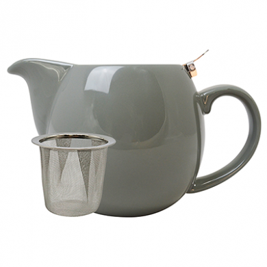 Teapot with Stainless Steel Lid - Grey (500ml)