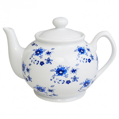 Porcelain Afternoon Tea Forget-me-not Tea Pot (1 Litre)