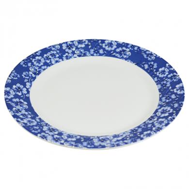 Afternoon Tea Viola Bordered Plate - Porcelain 8 inch (20 cm