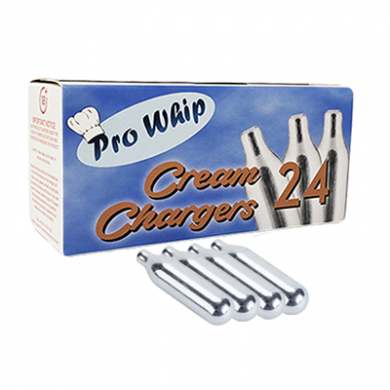 Cream Chargers by Pro Whip - Pack of 4 x 24s (96 Chargers)