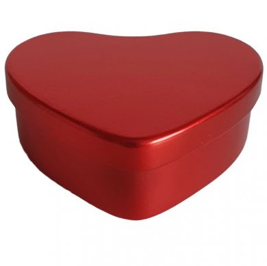 Flame Red Heart Shaped Tin (45mm)