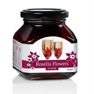 Rosella (Wild Hibiscus) 11 Flowers in Syrup (250g)