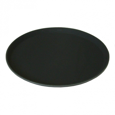 Round Black Non Slip Tray (280mm/11 inches)