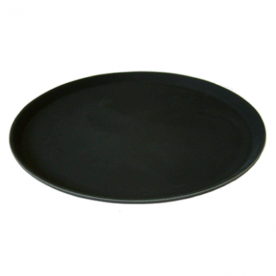 Round Black Non Slip Tray (355mm/14 inches)
