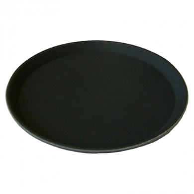 Round Black Non Slip Tray (410mm/16 inches)