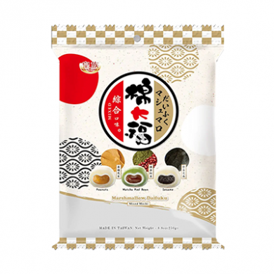 Royal Family - Mixed Daifuku Mochi (250g) Peanut, Red Bean a