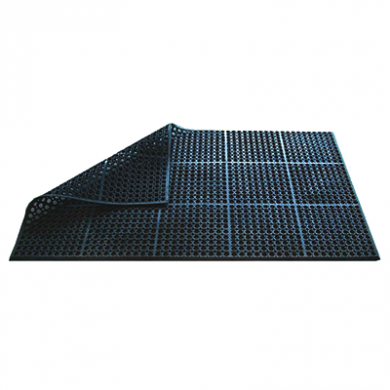 Rubber Bevelled Edged Floor Mat (150cm x 90cm x 1.2cm)