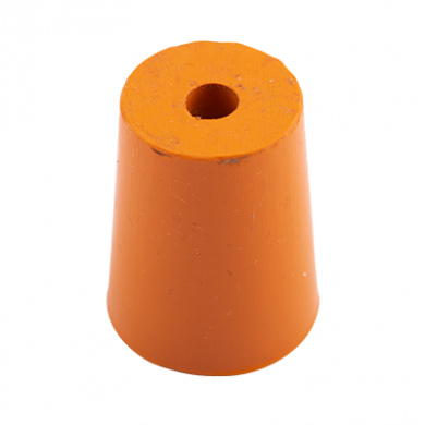 Rubber Bung (Base Dia 17mm) WITH HOLE