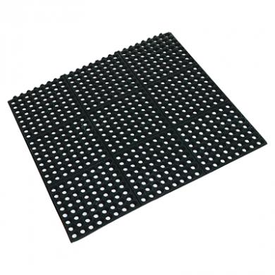 Rubber Floor Mat - Square Interlocking (90cm x 90cm x 1.2cm)