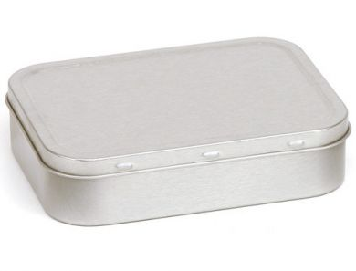 Tobacco Tin - Silver Large (50g/2oz Tin)
