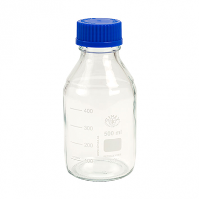 Simax - Clear Graduated Lab Bottle (500ml)
