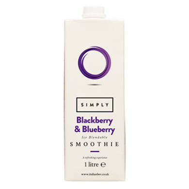 Smoothie Mix - Simply Blueberry and Blackberry (1L)