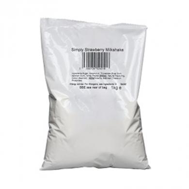 Milkshake Powder - Simply Strawberry (1kg Bag)