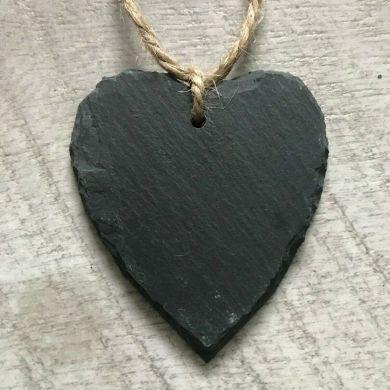 Slate Heart with Twine