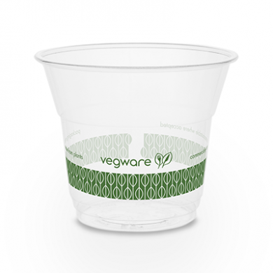 Bio Compostable SLIM Clear Cups - 5oz (76mm Rim) - Pack of 5
