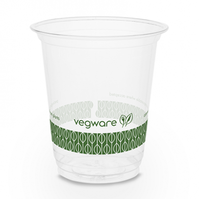 Bio Compostable SLIM Clear Cups - 7oz (76mm Rim) - Pack of 5