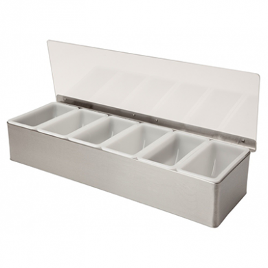 Stainless Steel Condiment Dispenser (6 Compartment)