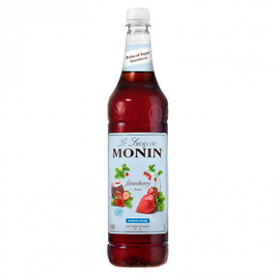Monin Syrup - Strawberry (Reduced Sugar) 1 Litre