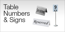 Serviceware - Table Numbers & Signs