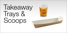 Bio Compostable Takeaway Trays & Scoops