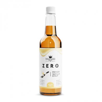 Three Kings - French Vanilla Syrup (1 litre) Sugar Free