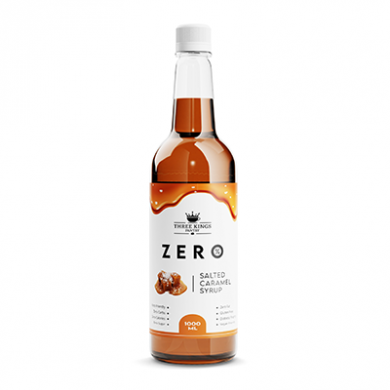 Three Kings - Zero - Salted Caramel Syrup (1 litre)