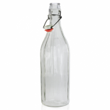 Glass Bottle with Flip Top/Swing Lid (1 Litre)