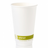 Planet Compostable Double Wall Hot Cup 16oz (89mm Rim) Pack of 25