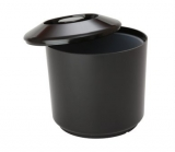 Round Ice Bucket Black (4 Litre)