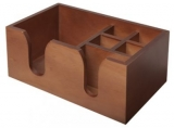 Bar Napkin Caddy - 6-Compartment (Wooden)