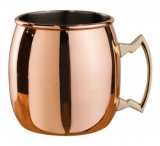 Mezclar - Copper Plated Curved Moscow Mule Mug (500ml)