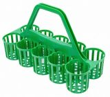 Glass Carrier Green (10 Pockets)