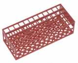 Test Tube Rack - For 16mm x 150mm tubes (60 slots) RED
