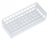 Test Tube Rack - For 16mm x 150mm tubes (60 slots) WHITE