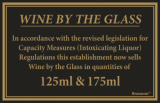 Law Sign - Wine By The Glass (125ml and 175ml)