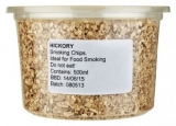 Hickory Woodchips (500ml/Approx 170g) LARGE CHIPS (Not as Image)