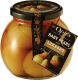 Opies Preserves in Globe Jar - Baby Pears in Luxardo Amaretto (420g)