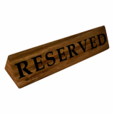 Reserved Sign (Pack of 6) - Acacia Wood